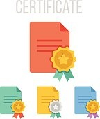 Vector certificate icons