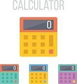 Vector calculator icons