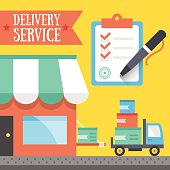 Delivery service concept.