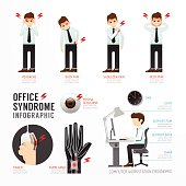 Infographic office syndrome Template Design . Concept Vector