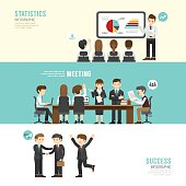 Business design conference concept people set presentation