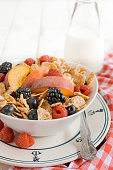 Corn flakes and berry fruits