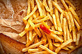 French fries on the table
