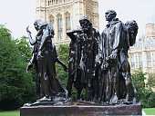Rodin sculpture 'The Burghers of Calais' London