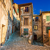 Sorano, medieval town in Tuscany, Italy
