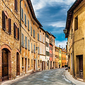 Street in a tuscan village