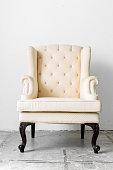 beige retro chair