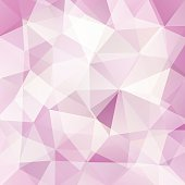 abstract background consisting of pink, white triangles