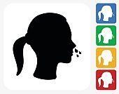 Runny Nose Icon Flat Graphic Design