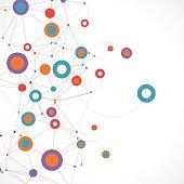 Network color technology communication background.