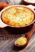 Casserole with millet and curd