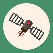 Space Satellite flat icon elements background,eps10