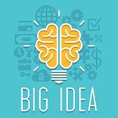 Rich idea innovation light bulb infographic concept