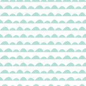 Scandinavian seamless mint pattern in hand drawn style