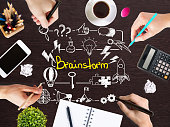 Brainstorm sketch on desktop