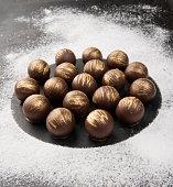 Dark chocolates balls
