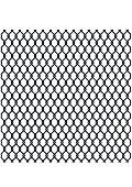 Metallic wired Fence pattern isolated on white. Steel Wire Mesh.