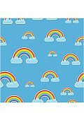 Rainbow and clouds pattern. Nature sign spectrum. Weather curve
