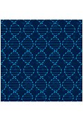Dna seamless pattern.  Science Blue vector background