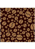 Coffee beans pattern. Seamless background. Vector Illustration