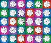 Vector shiny snowflakes set
