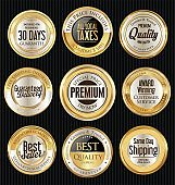 Sale luxury golden labels collection