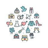 Icon set - wedding