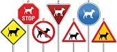 Road Signs Dogs