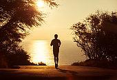Man going for morning run