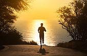 Man going for run