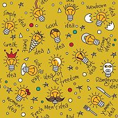 Doodles creative ideas color seamless pattern.