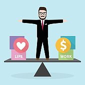 Hipster Businessman with Business concept Work Life Balance