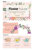 Floral website template  banner and infographic 2