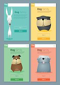 Animal banner with dogs for web design 7