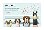 Cute animal family background with Dogs 3