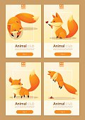 Animal banner with Foxes for web design 2