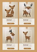 Animal banner with Deers for web design 2