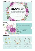 Floral website template  banner and infographic 3