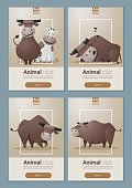 Animal banner with Cows for web design 1