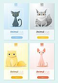 Animal banner with Cats for web design 2