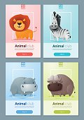Set of Wild animal templates for web design 1