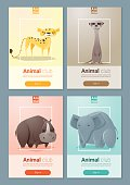 Set of Wild animal templates for web design 2