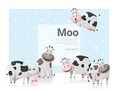 Animal background with cows