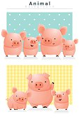 Animal background with Pigs 1