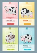 Animal banner with Cows for web design 2