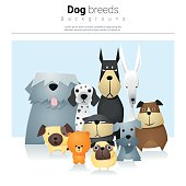 Animal background with dogs 2