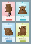 Animal banner with Bears for web design 1