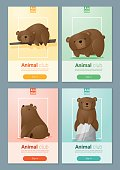 Animal banner with Bears for web design 2