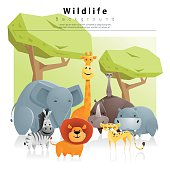 Wild animal background 2