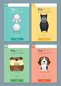 Animal banner with Dogs for web design 4